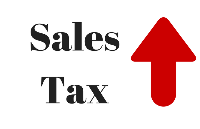 "Massive sales tax hike pushed by Democrats in 2015 — ""should we raise it to 11% or 12%?"""
