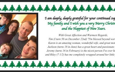 The Eyman family wishes you a very Merry Christmas and Happy New Year