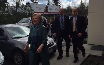 Yesterday, I went to Hillary's political rally at the Machinists' Union Hall in Everett