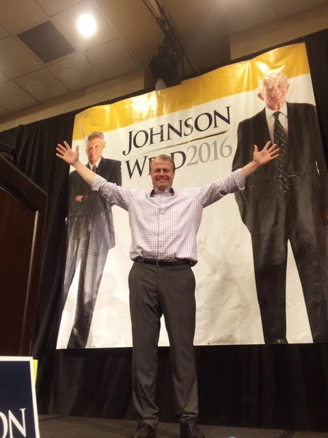 I love politics — on Saturday I went to political rally for presidential Libertarian ticket