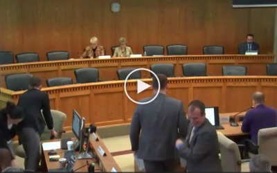 I was the only one there to testify against getting rid of the 1% property tax cap