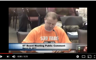 WATCH VIDEO:  Eyman tears into Sound Transit's board over inflated car tab taxes