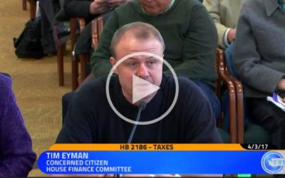 WATCH VIDEO:  Eyman in Olympia testifying against Democrats' income tax scheme