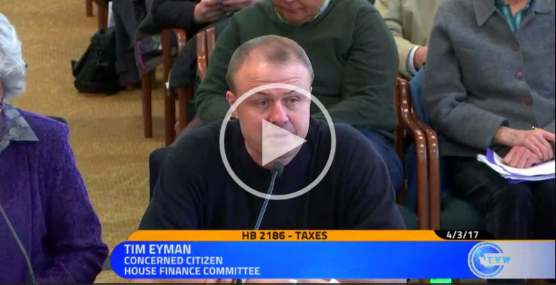WATCH VIDEO:  Eyman in Olympia testifying against Democrats' income tax scheme