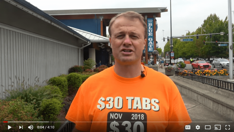 Eyman's promotional video for $30 Tabs Initiative — forward it to all u know