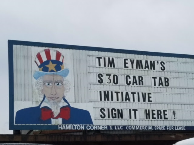 What an honor: $30 Tabs petition featured on Uncle Sam sign. Too cool.