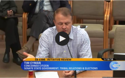 """Eyman infuriates Democrat senators at Friday's hearing with this: """"I really question the motives of the sponsors of this anti-initiative bill"""""""