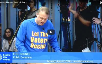 Eyman rips Seattle Clowncil for blocking vote on head tax