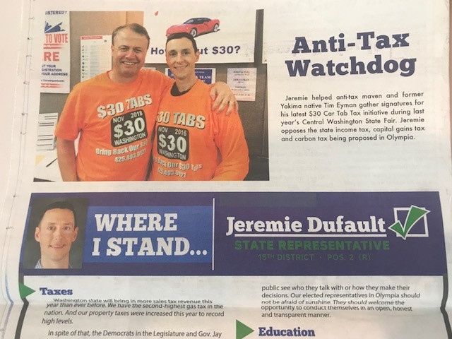 High point for me @ Yakima Fair on Saturday:  House GOP candidate looks like a future start — you won't believe the mailer he's sent out to voters