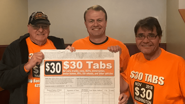 "We're super excited!  To qualify our $30 Tabs Initiative for the ballot, the government requires that we turn in 259K ""good"" sigs.  Yesterday, we turned in 286,003!!  That's fantastic.  But the number of extra signatures — the cushion — needs to a lot higher.  Mail in what you got.  Whether it's partially filled petitions — even one signature on a 20-line petition — or a full petition, send 'em in NOW, NOW, NOW!!  Don't delay!!"