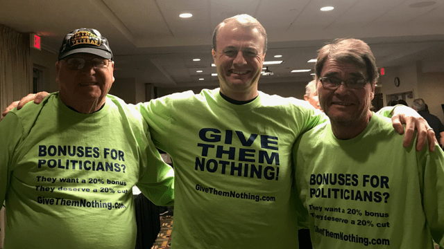 "UPDATE on GiveThemNothing.com:  We trekked to Spokane on Wednesday and testified before rigged, corrupt 17-member ""regular citizen"" salary commission.  We told them ""Don't Give Inslee & Ferguson salary bonuses."" Here's how it went"