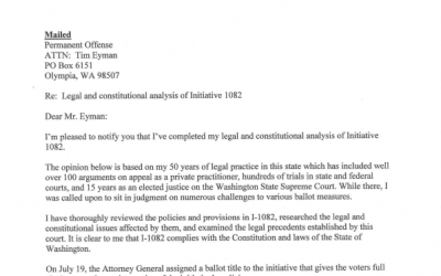 Former Supreme Court Justice Richard Sanders Thorough 7-Page Legal Analysis Of I-1082