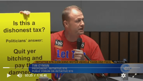 """Watch tonight's I-976 debate online. """"Is this a dishonest tax? Politicians answer: """"Quit yer bitching and pay the damned tax."""" Pigs are gonna be squealin' 2nite!!"""