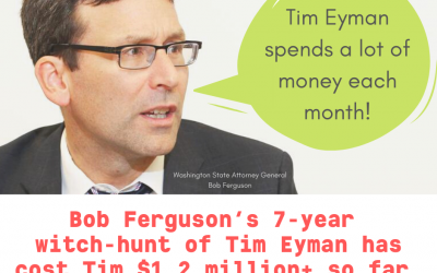 Bob Ferguson's 7-year Witch-Hunt has cost me $1.2 million+ so far.