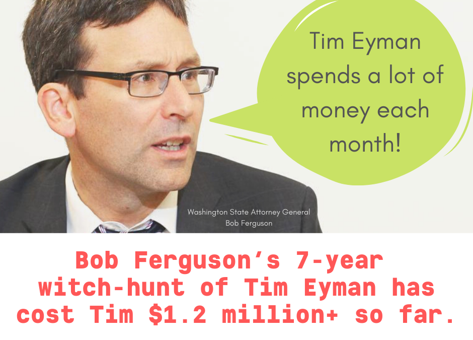 Bob Ferguson's 7-year Witch-Hunt has cost me $1.2 million+ so far.