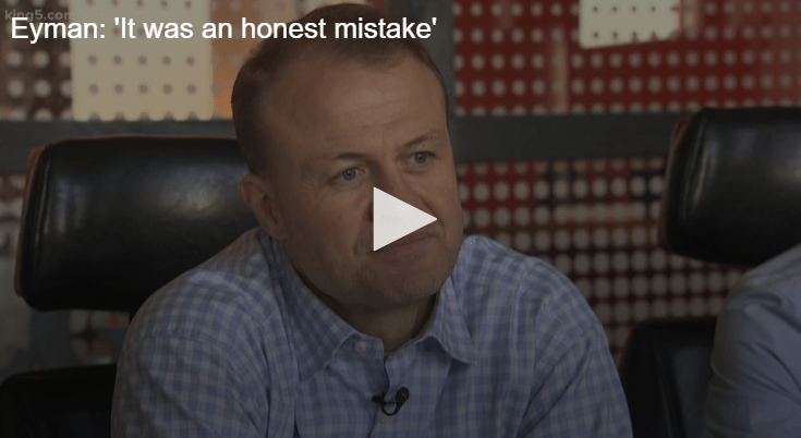 Tim Eyman: 'It was an honest mistake' King 5 interview about the office chair