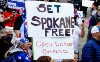 Join me/us, Wed, April 22, 1-2pm, Spokane City Hall, Protesting Inslee's Lockdown