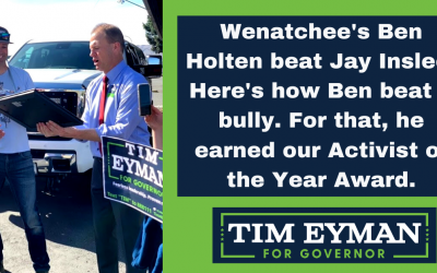 """Wenatchee trip highlighted by """"Activist of the Year"""" award going to Ben Holten who beat Jay Inslee with his #LetUsFish rallies."""
