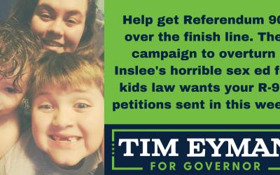 Help get Referendum 90 over the finish line.
