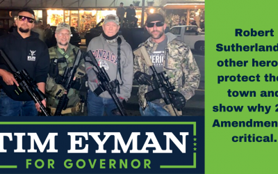 Robert Sutherland & other heroes protect their town and show why 2nd Amendment is critical. Inslee? He sent in the NA Guard … unarmed!! Really? Yes, really.