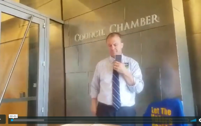 """VIDEO: At yesterday's Seattle City Council meeting, Eyman tells Seattle Socialist: """"Kshama Sawant, you should be in jail, not behind a microphone."""""""