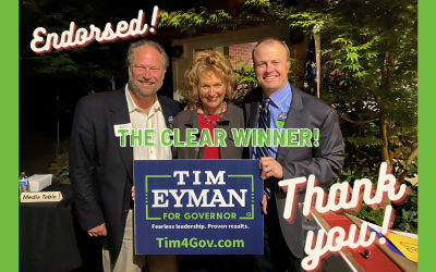 Once they saw me debate the other Guv candidates, the event sponsor (Liz Pike) & moderator (Scott Hogg) endorsed me. They said it wasn't even close