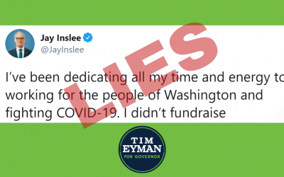 Inslee says he's not raising money — but he is (his newest lie). While Inslee pals around w/ Paul Simon, I'm fighting Socialist Sawant.