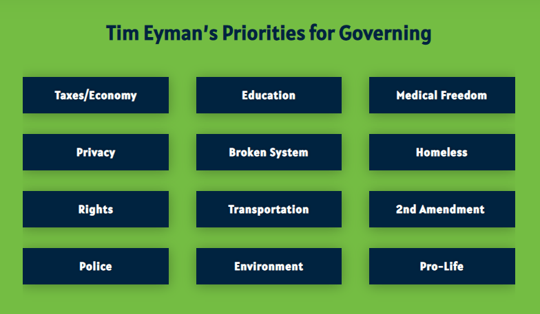 Tim's Campaign For Governor Is So Much More Than $30 Tabs