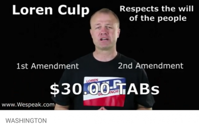 WATCH my 30 second video supporting Loren Culp — I'm introducing him @ 2 huge rallies this weekend.