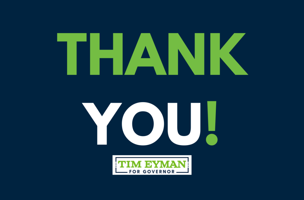 Tim Eyman thanks everyone for all their love, help, & support. Video & pics & excerpts from last night's speech.
