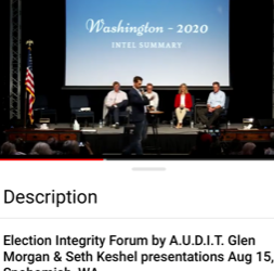 I created a user-friendly video clip of Sunday's Election Integrity Forum